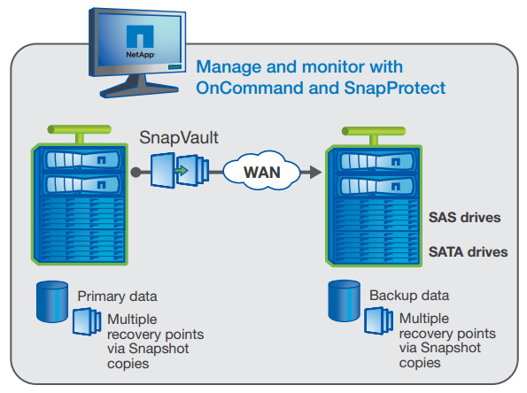 Efficient data protection with SnapVault.